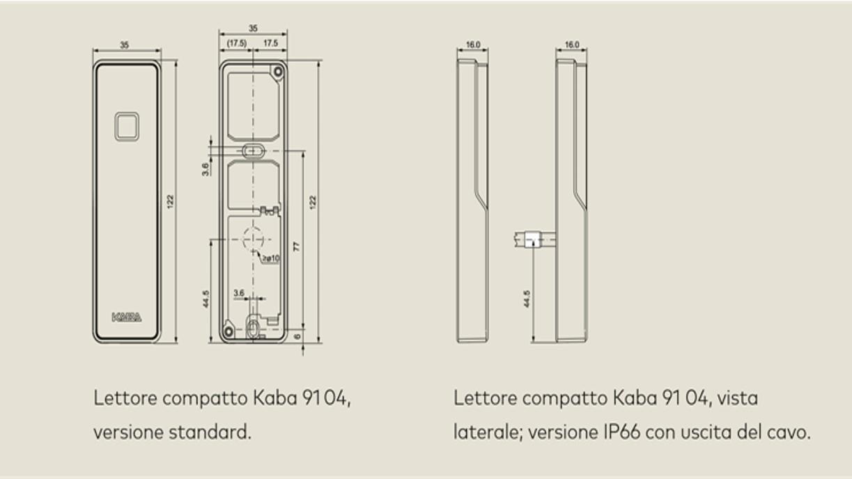 Lettore compatto Kaba 91 04